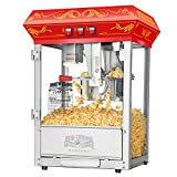 8 oz vintage popcorn machine - 5805 Great Northern Popcorn Red Good Time Popcorn Popper Machine, 8 Ounce