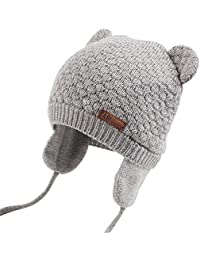 e9fffeec141 Baby Hat Cute Bear Toddler Earflap Beanie Warm for Fall Winter