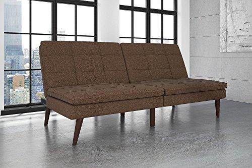 Premium Futon - DHP Premium Westbury Linen Pillowtop Futon, Brown