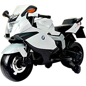 Licensed BMW Motorcycle 12V Kids Battery Powered Ride On Car - White