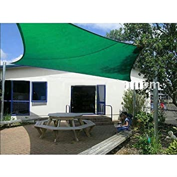 Quictent Outdoor 10 X 15 Rectangle Sun Shade Sail Canopy Patio Garden Top Cover- Green, with Free Carry Bag, End of Season
