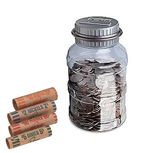Emerson Digital Coin Counting Jar with Wrappers (Emerson Automatic Coin compare prices)