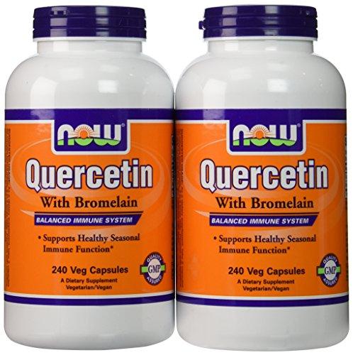 (Now Foods Quercetin with Bromelain, Veg-Capsules,480 (2 Pk X 240) )