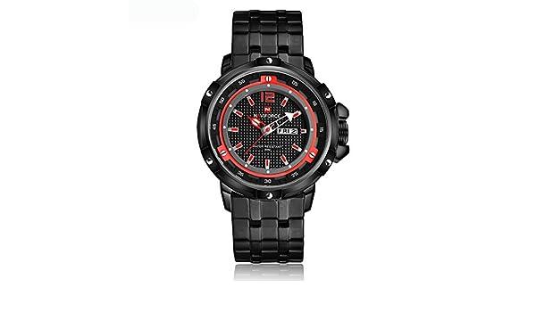 Amazon.com: NAVIFORCE Watch Men Full Steel Bracelet Quartz watch Male Army Military Wristwatch: Watches