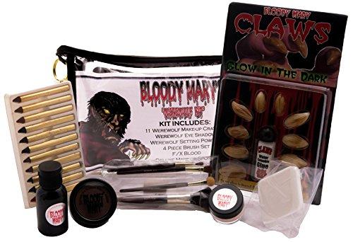 Bobbie Weiner Deluxe Werewolf Professional Character Makeup Kit - Wolf Costume Eye Makeup