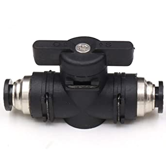 1//4 x 1//4 OD Push to Connect Fitting Air Flow Control Valve Straight Quick Connect Union Beduan Pneumatic Ball Valve