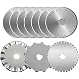 KISSWILL Rotary Cutter Blades 45mm, 10 Pack 45mm Rotary Blades Fits for Fiskar Olfa Martelli Truecut 45mm Cutter Replacement, Sharp and Durable