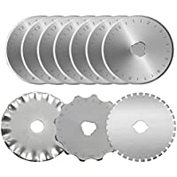 KISSWILL Rotary Cutter Blades 45mm, 10 Pack 45mm Rotary...