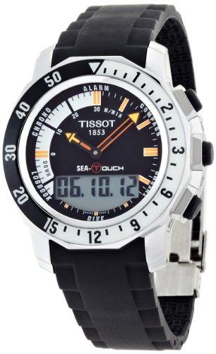 Tissot Men's T0264201728100 Sea Touch In Meter Black Dial Watch