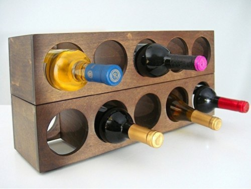Rutherford Wine Rack (set of 2) (Brown) by Proman