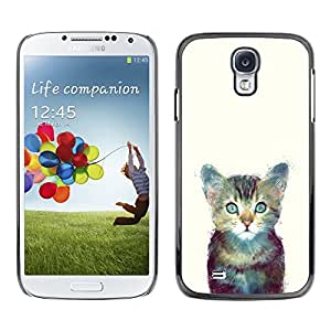 Paccase / SLIM PC / Aliminium Casa Carcasa Funda Case Cover - Cute Space Kitten Cat Furry Painting - Samsung Galaxy S4 I9500
