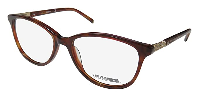 8210ea8f4ff2d Harley Davidson Prescription Eyeglasses - 0535 052 - Dark Havana  (54 16 135)  Amazon.ca  Clothing   Accessories