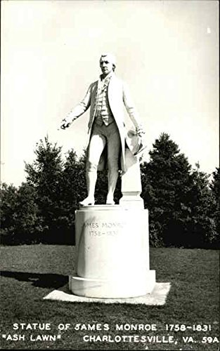 Statue of James Monroe, 1758-1831, at Ash Lawn Charlottesville, Virginia Original Vintage - Statue Monroe