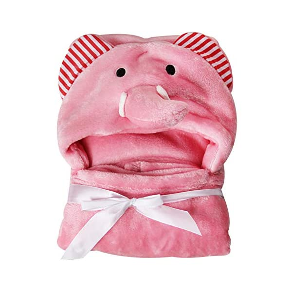 Asciugamano con cappuccio, coperta da bagno, in morbido pile corallo, poncho per neonati e ragazzi, con orecchie… 1