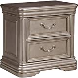 Signature Design by Ashley B720-92 Birlanny Night Stand, Silver