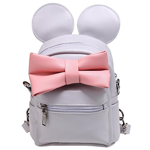 377189173e41 Yealsha Women's Girls Cute Synthetic Leather Mini Bow Backpack School Bag