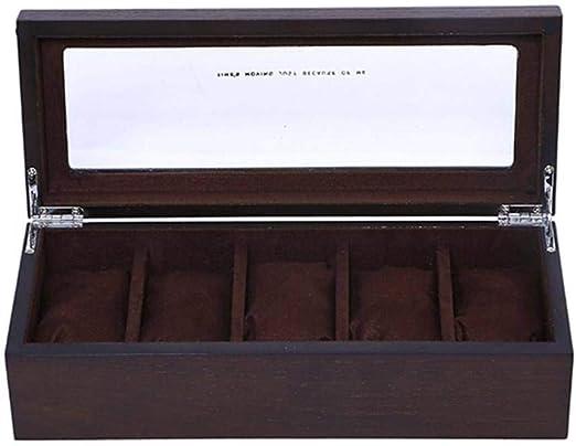 GOVD Caja para Guardar Relojes Madera Organizador de ...