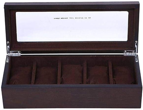 GOVD Caja para Guardar Relojes Madera Organizador de Almacenamiento para almacenar Relojes, para Relojes A: Amazon.es: Hogar