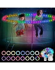 Mostof Led Trampoline Lights Compatibel met 6FT 8FT 10FT Trampoline, Waterdichte Batterij aangedreven Trampoline Velg Lichten met Afstandsbediening, 16 kleuren, Timing
