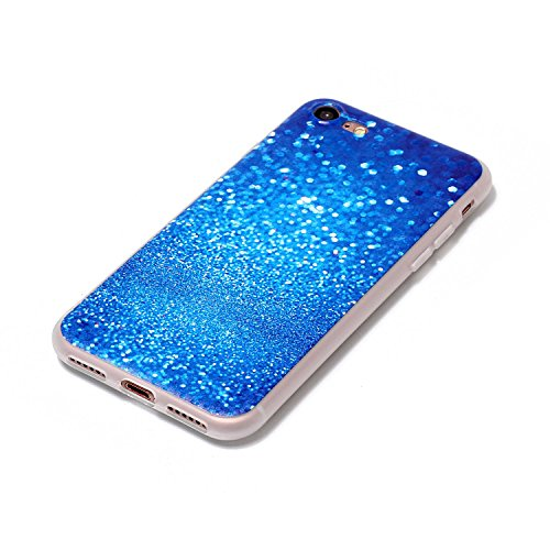 iPhone 8 Hülle,3D Blauer Kies Premium Handy Tasche Schutz Schale Für Apple iPhone 8 + Zwei Geschenk