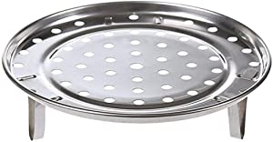 """Round Stainless Steel Rack Inch Diameter Steaming Rack Stand Canner Canning Racks Steamer Stock Pot Steaming Tray Pressure Cooker Cooking Toast Bread Salad Baking (D=9.33"""")"""