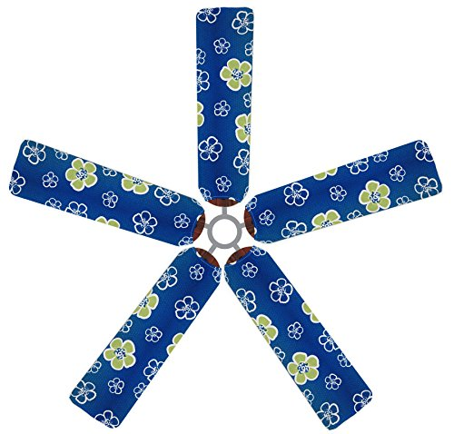 Fan Blade Designs Green Hibiscus Ceiling Fan Blade Covers by Fan Blade Designs