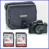 Olympus OM-D E-M10 Mark III (Mark 3) Mirrorless Digital Camera with 14-42mm EZ Lens (Black) + 32GB SDHC Memory Card + Camera Bag