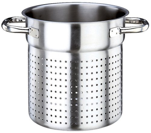 Paderno World Cuisine 9 1/2 Inch Stainless Steel Stock Pot Colander by Paderno World Cuisine