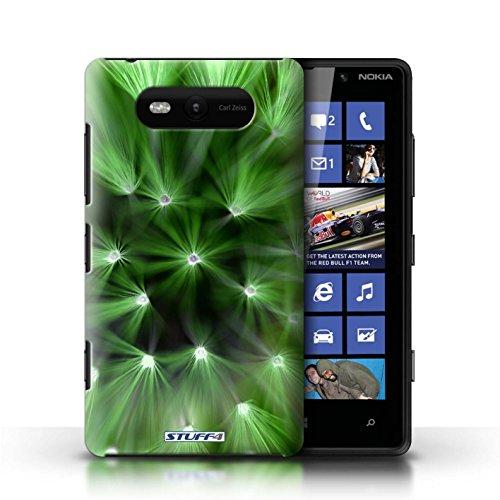 Etui / Coque pour Nokia Lumia 820 / Vert conception / Collection de Couleur/Lumière Fleur