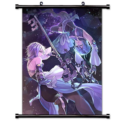 Heart Scroll (ROUNDMEUP Kingdom Hearts 3 Game Fabric Wall Scroll Poster (32x48) Inches [VG] Kingdom Hearts 3-3(L))