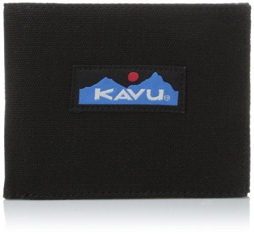 KAVU Yukon Bi Fold Slim Cotton Canvas Wallet - Black
