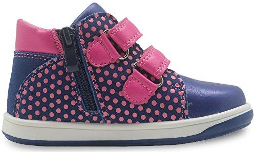 Apakowa Kinder High Top Casual Sneakers Kleinkind Mädchen Stiefeletten Blue