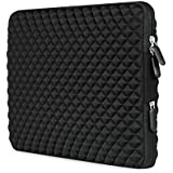 [Best Shock-resistant Laptop Sleeve Ever] AMNIE Diamond Foam Splash & Shock Resistant Neoprene 13-13.3 Inch Laptop Sleeve Case Bag/ Notebook Computer Case / Briefcase Carrying Bag / Ultrabook Laptop Tablet Bag Case / Pouch Cover / Skin Cover, Black