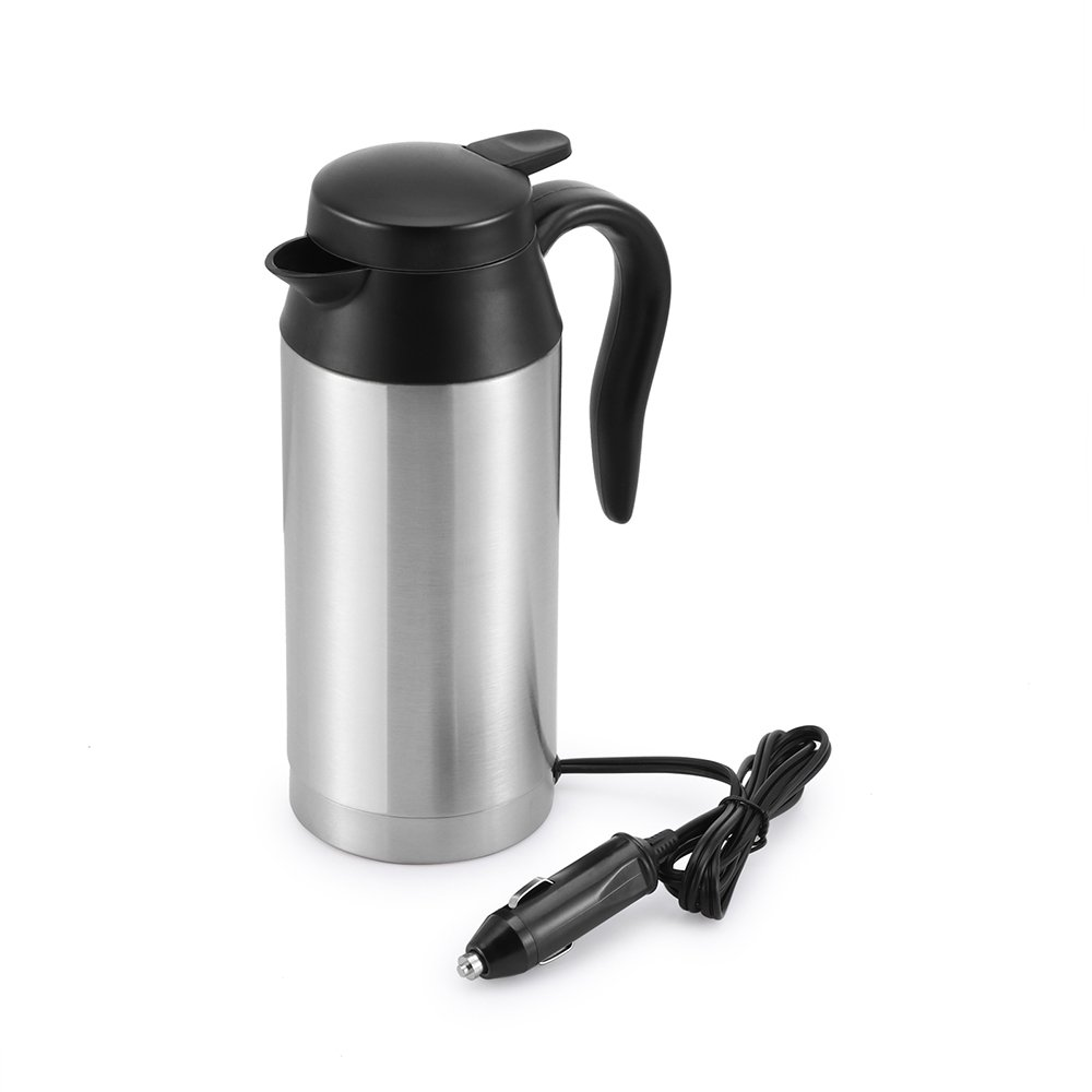 Car Kettle Boiler Sunsbell 750ml Car Heating Cup Stainless Steel Mug Car Coffee Cup Warmer with DC 12V Charger (Kettle Boiler)