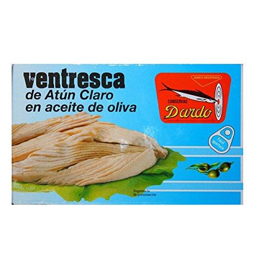 Ventresca de atún claro en aceite de oliva OL-120. Dardo. 50un.: Amazon.es: Alimentación y bebidas