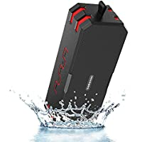 Sardine Portable Wireless Bluetooth Speakers 4.0 with Waterproof IP67,20W Bass Sound,Stereo Pairing,Durable Design for iPhone /iPod/iPad/Phones/Tablet/Echo dot,Good Gift (Red)