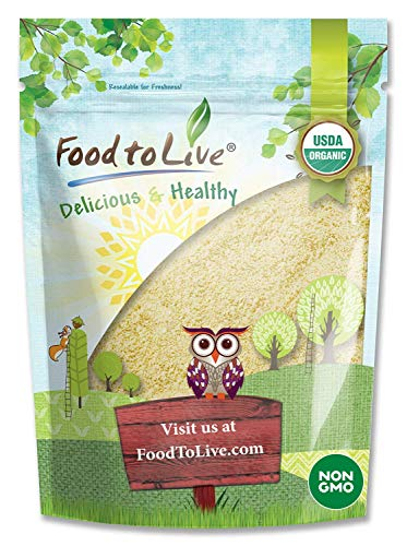 Organic Almond Flour, 2 Pounds - Extra Fine Blanched Prime Meal, Non-GMO, Low Carb, Culinary Grade, Kosher, Keto, Paleo and Vegan Super Powder, Bulk