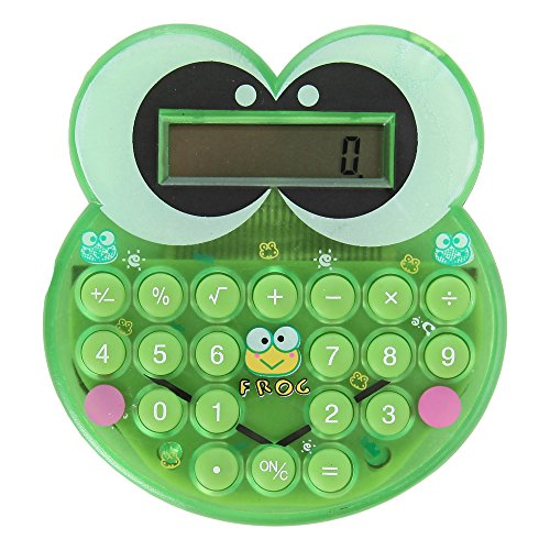 Home-X Cute Cartoon Green Frog Mini Pocket Calculator