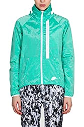 Nike Women's Tech Aeroshield Moto Cape Full Zip Hooded Running Jacket Small