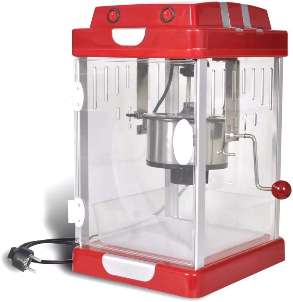 vidaXL Teatro-Estilo máquina de Palomitas de maíz de Popper 2,5 OZ