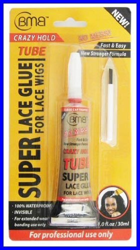 [BMB] Super Lace Glue for Lace Front Wigs Crazy Hold Tube 1.0 fl.oz by Blue Moon Beauty