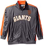MLB San Francisco Giants Men's Team Reflective Tricot Track Jacket, 2X/Tall, Charcoal/Orange