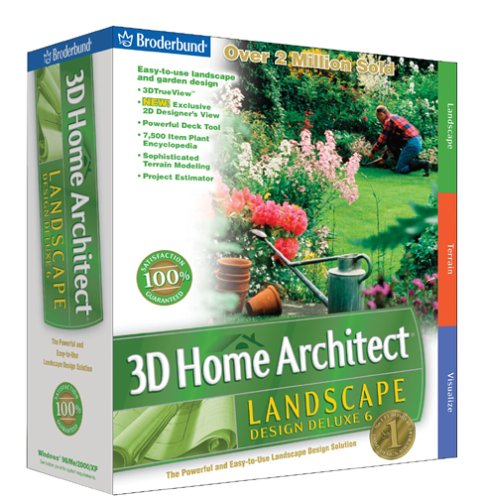 3d home architect landscape design deluxe 6 cd rom ebay