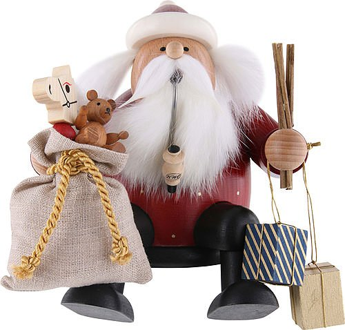 Christmas Smoker - Santa Claus, Sitting (6.3 inches)