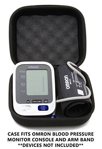 CASEMATIX Padded Travel Case For OMRON 7 Series Upper Arm Blood Pressure Monitor - Fits Monitor and Arm Cuff models BP761N , BP760N , BP761 , BP760 by CASEMATIX (Image #2)