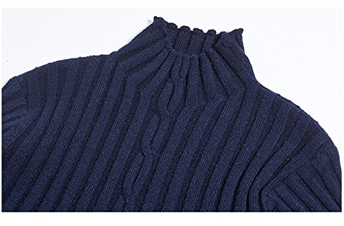 Lacus-IT Vestito Invernale Lavorato a Maglia da Donna -Abito a Maniche Lunghe a Vita Alta con Collo Alto e Maniche… 5