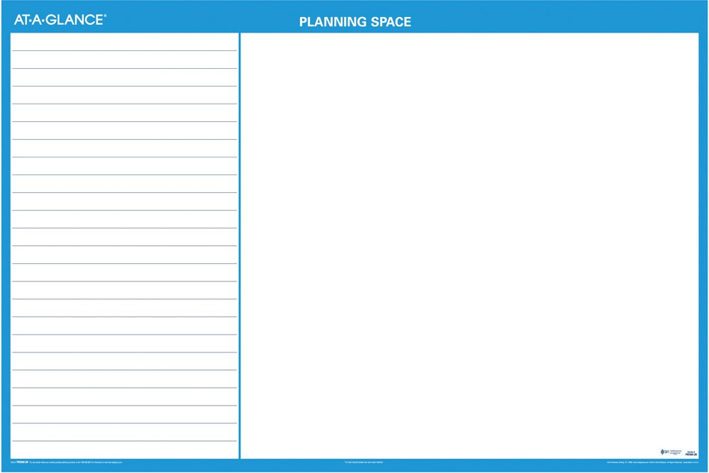 AT-A-GLANCE PM30028 Horizontal Erasable Wall Planner, 48 x 32, Blue/White, 2016