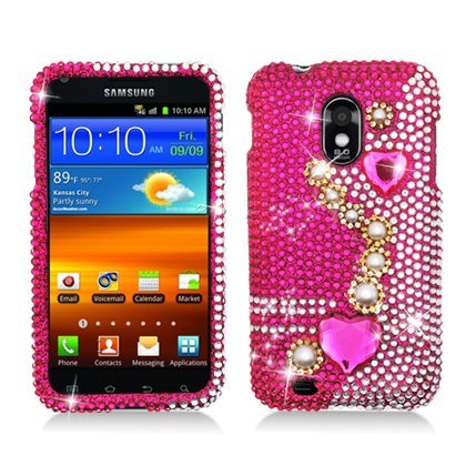 PEARL PINK Rhinestone/Crystal/Bling/Diamond Hard Case Cov...