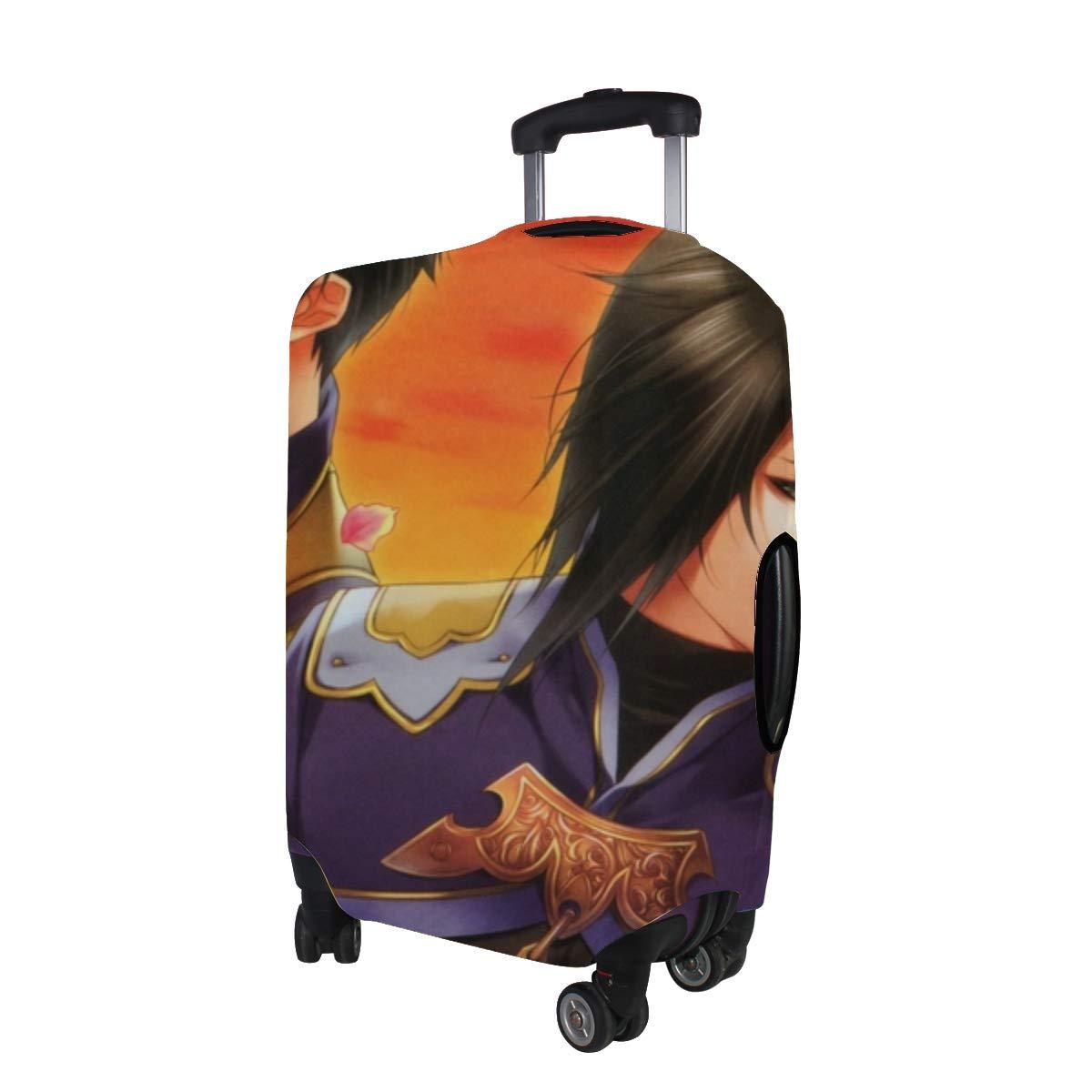 Maxm Zyuzaengi Engetsu Sangokugen Visual Novel Kakouton Sousou Kakouen Pattern Print Travel Luggage Protector Baggage Suitcase Cover Fits 18-21 Inch Luggage