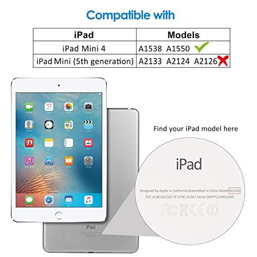 JETech Case for Apple iPad Mini 4, Smart Cover with Auto Sleep/Wake, Black